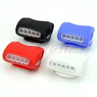 A31 New Hot Bike Bicycle Cycling 7 LED Silicone Front Lamp Safety Warning Head Light 4Colors