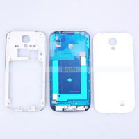Full Complete Back Original White Housing Assembly Cover for Samsung Galaxy S4 i9500 i9505 with Middle Frame+Back Frame Bezel