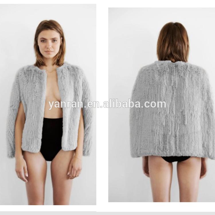 Yanran Factory Direct Sale Hot Sale YR-060 Australia Style Sheared Rabbit Fur Jacket Real(China (Mainland))