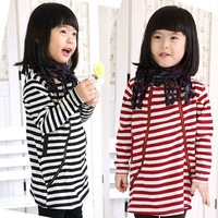 2014 spring & autumn girls suit full sleeve print  stripe  zipper sports  tops +pant leggings sets 2pieces sets  LZ-T0209