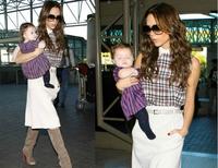 New 2014 casual dress Victoria Beckham Star Style Ladies' Fashion Patchwork Slim Mini Dress Womens' Dress S M L XL
