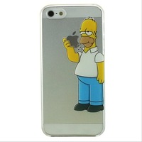 Simpsons Transparent Frosted Case For iPhone 5 5S iPhone5 5S