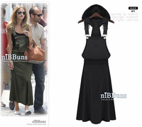 New 2014 Women Summer Dress Sexy Large Size Vest  Hooded Dress Star Style Casual Long Dresses for Girl Dress Vestidos 2318