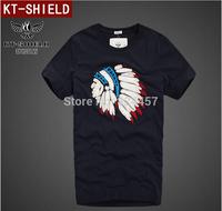 New 2014 Summer Men's T shirt High Quality Short Sleeve 100% Cotton T-shirt Male Fashion Brand Causal Slim Shirt For Men 5 SIZE