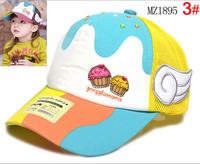 Retail 2014 Fashion Kids Baseball Caps Baby Has & Caps Letter Boy  breathable  Cap Baby Boys Girls Sun Caps Free shipping