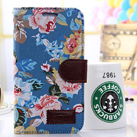 Top Quality Cotton Prints Leather Phone Cases Cover For Samsung Galaxy Note 2 N7100 Case, 1/lot, Free Shipping, cas-HBPT-7
