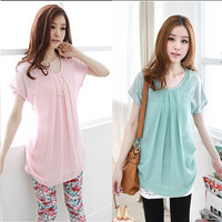 2014 Fashion Summer Women'S Loose Plus Size Short-Sleeve Chiffon T-Shirt  Female Blouse Free Shipping