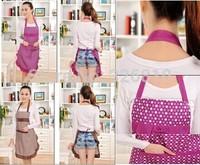 2014 New 2PCS/PACK Princess Korean fashion cute female adult overall kitchen sleeveless apron super dirt radom colors!