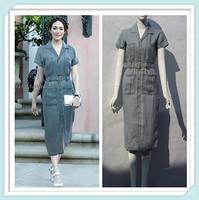 [SALE]  Army Green Dress 2014 Military Women Summer Dresses Vintage Camouflage Desgin