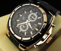 V6 New Watch 2014 New Dieseler Watch Fashion Casual Men WristWatches Luxury Golden Silver Case Rubber
