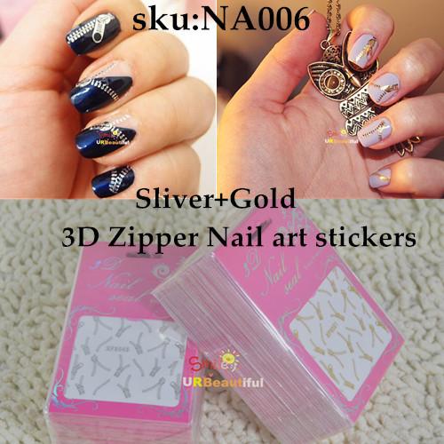 100sheets золото серебро металлической молнии дизайн