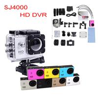 SJ4000 HD Sports DVR Helmet Waterproof Camera HD Action Camera Sport Outdoor mini Camcorder DV hot digital video cameras