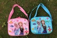 In stock  new style Frozen cartoon lunch box set for kids Nylon Lunch bag children shoulder bag 890