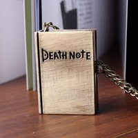Death note book cool vintage bronze watch pendant analog hot sale dropship necklace best gift 2014