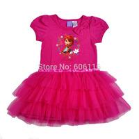 Wholesale 2014 New Kids Summer children girl's Frozen design one-piece dress, baby girls princess dresses, 5pcs/lot-WYX-BB-31