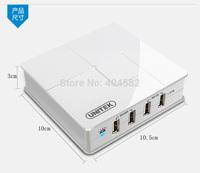 USB 4-Port Smart Charging Hub Station Built-in 5V6A Power Supply + 1 OTG Port