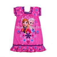 2014 New Hot sale Kids Summer children girl's Frozen design one-piece dress, baby girls princess dresses, 5pcs/lot-WYX-BB-37