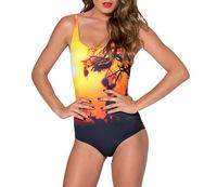 1109 New 2014 Women Bathing Suit One Piece Evening twilight Swimsuit Sexy Swimwears Women Swimsuit High Waist  For Women