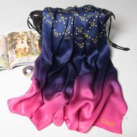 180x70cm 124077 2014 Newest  Women's 100% Silk scarf, 100% Silk scarves, rectangle silk scarf, Free Shipping  Muslim Hijab