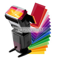 10pcs 12 sets color card for Strobist Flash Gel Filter Color Balance with rubber band Free shipping +tracking number