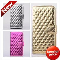 Free Shipping 2014 New Diamond Holster Case For Samsung Galaxy S5 i9600 Stand Wallet Leather Case For Samsung Galaxy S5 i9600