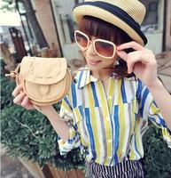 New 2014 Fashion Handbag PU Leather mobile phone candy color mini women messenger bag for vintage girls shoulder bag, 6 colors