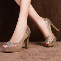 fish Mouth shoes 2014 Ladies Fashion High Heels Sandals LK-A6833