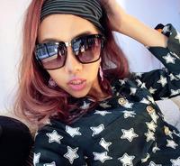 Trend vintage elegant framework female sunglasses star style sunglasses women's anti-uv