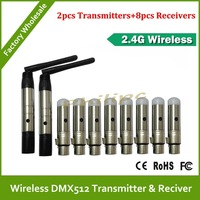 DHL  Free Shipping     Wireless DMX transmitter receiver wireless transceiver stage lighting special 2.4G  interference 10pcs