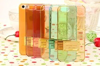 New arrival Free shipping MK case Luxury Brand cases transparent clear phone case for iPhone 5 5s back cover case