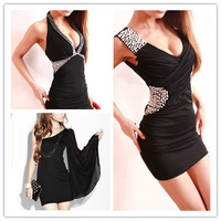 2014 New Fashion Summer Women's Dresses Sexy Noble Nightclub Party Club Dresses Fashion Black Slim dress