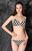 Women White Black Zebra Striped Bikini Bandage Push Up Bathing Suit Underwire Swimsuits Lady Swimwear