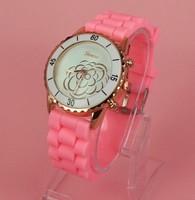 Free shipping!Sale Spring 2014 New Luxury Brand Geneva Casual fashion Quartz Silicone Sports Watches, Women Dress Watch