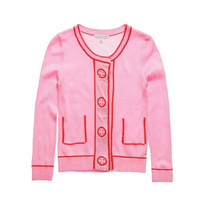 Girl Warm Knitting Knitted Cardigan Sweater Outerwear Kid's Children Clothes Free Shipping