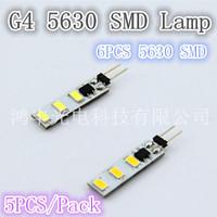 Free shipping, double 2W 6pcs 5630SMD G4 lamp, DC/AC10-30V quality assurance 5pcs/lot