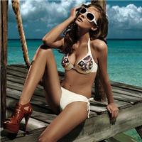 Victoria Bikini Set Hot Sale Women Sexy Swimwear Pattern Design Padded Push Up S/M/L Swimming Suit
