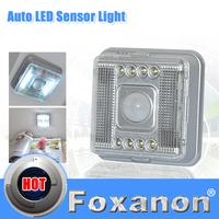 Foxanon LED White Lamp Auto Sensor Action Move Motion Detector Night Lights Wireless Infrared 8 LED Light Lamp PIR NightLights