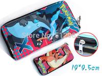 Pokemon Pikachu Pokeball Red Grey Dragon Cloth Zipper Long Wallet Purse Japan Animation Gift Cosplay Wholesale Free Shipping