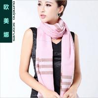 Oumeina High-grade 70S yarn dyed weaving 100% wool Encryption Barbara La warm pure wool scarf 180cm X 70cm  LJD-W28