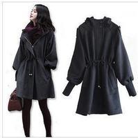 New women's winter coat windbreaker jacket bust 118cm cotton cashmere warm hooded thick woolen Outwear