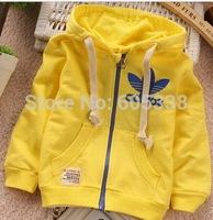 New 2014 Fashion Design Kids Boys Toddlers Shirts Top Zipper Hoodies girl's jacket Age 2-5 retail+free shipping