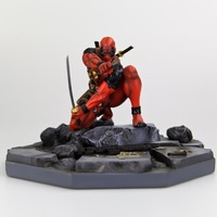 2014 NEW Genuine mindstyle Marvel marvel X- Men died paternity Deadpool Limited Collector's sculpture model