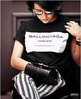 New 2014 Fashion Women T-shirt Hot Selling Ballinciaga T shirt Letter Shirt Spring Summer Tee Tops For Women Clothing Sale