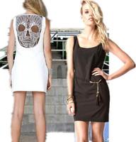 2014 New Hot Fashion women cozy clothing cute girl dress summer women dress solid hollow out back cool  mini