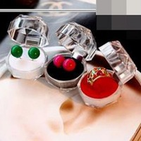 20pcs/lot Hot Sale Jewelry Package Ring Earring Box Acrylic Transparent Wedding Packaging Jewelry Box DP671615