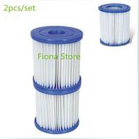 equipamento de mergulho 2pcs/set  filter pump cartridge replacement 9*8 cm suitable for 330 gallon bestway filter pump