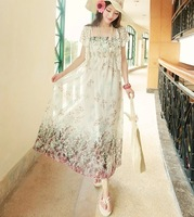 summer dress chiffon long dress Bohemian style 2014 new arrive free shipping for summer holiday & beach travel hot sale retail