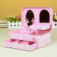 Large storage jewelry music box rotating ballet music box for girls birthday gift jewelry box storage box