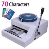 70characters Manual Magnetic PVC Plastic Card Embosser, Membership Card Embossing Stamping Printer Machine for Plastic Card