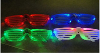 Popular Shutters Shape LED Flash Glasses   four color  For Dances / Party Supplies Decoration Glow Mask Christmas Halloween